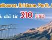 Vé máy bay đi Brisbane, Perth, Melbourne, Sydney, Auckland - China Southern Airlines