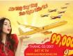 Giá vé hấp dẫn 99k bay toàn quốc đang mở bán từ hãng Vietjet Air