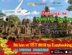 Hấp dẫn giá vé máy bay 0 usd đi Cambodia tháng 12-2017